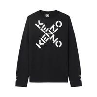 Kenzo T-Shirt Logo Cross Long Sleeve - Black Man