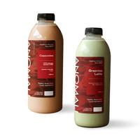 Cappuccino 1L + Green Tea Latte 1L (Khusus Kurir Instant/Same Day)