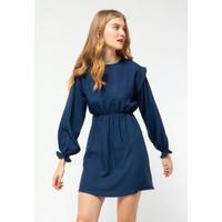 Colorbox Shoulder Detail Dress I:Diwfjn121D017 Dark Blue - DARK BLUE, XS