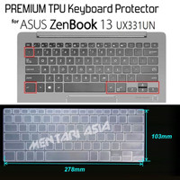 g3t Keyboard Protector Asus Zenbook 13 Ux331Un - Premium Tpu Clear