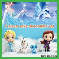4pcs Set Ornamen Boneka Princess Frozen Untuk Dekorasi Kue Ulang Tahun
