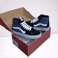 Sepatu Vans SK8 High Navy Blue Black White DT BNIB