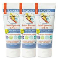 Badger - SPF 35 Clear Zinc Oxide Sport Sunscreen Cream - Unscented - B