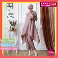 DGS004 COD Baju Setelan Tunik Celana Panjang Wanita Muslim Dewasa