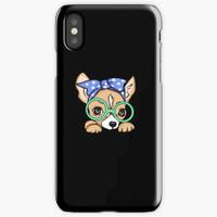 Casing Custom Chihauhua Glasses Bandana Iphone X XS MAX XR A04425