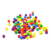 Hbid 100x Multicolor Spacer Wood Beads Round Wooden Beads for Baby