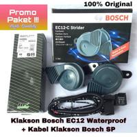 Klakson + Kabel Set Klakson Bosch Original Mobil Datsun Go Panca