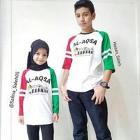 Couple Baju Anak Muslim Sarimbit Kakak Adik Al Aqsho Palestina Ammar