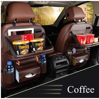 Toyota Fortuner Car Seat Back Cover Organizer Tas Leather Meja Lipat