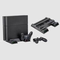 Dock Charging Stik Kontroler Ps4 Pro Slim Vertikal Dengan Kipas
