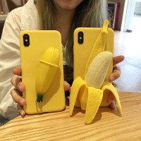 BEST Casing Reno 2f Release stress 3D Banana soft phone case oppo A3S
