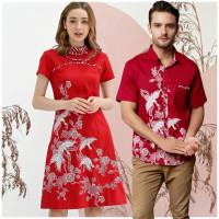 TERL4RIS Couple Batik UT Batik Wanita Modern Baju imlek Dress Batik OP