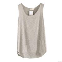 Kaos T-Shirt Wanita Tanpa Lengan Model Longgar
