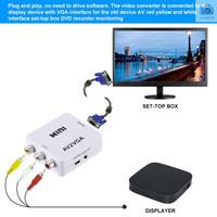 Mini av2vga Converter Box AV RCA CVBS to VGA Video Converter dengan