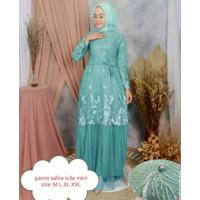 Baju Gamis Brokat Tule Dress Muslimah Berukat Broklat Kondangan