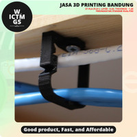 Penjepit Kabel Klip Mountable Wire Clip 3D Print Bandung WICTMGS