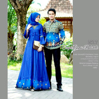 baju batik couple gamis lengan panjang untuk pesta anak muda