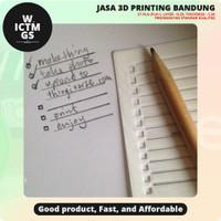 Thin Todo List Maker Stencil 3D Print Bandung WICTMGS