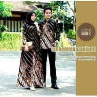 baju batik couple gamis full batik anak muda keren