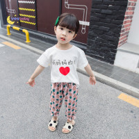 YESBABY Girl Clothes Set Casual Short Sleeve Chinese Print Top