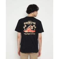Kaos Pria Erigo T-Shirt Lost In Shibuya Cotton Combed Black - S