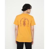 Kaos Pria Erigo T-Shirt Wheels Cotton Combed Mustard