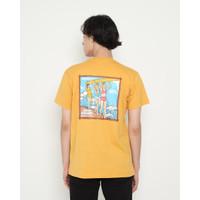 Kaos Pria Erigo T-Shirt Party Surfing Cotton Combed Mustard
