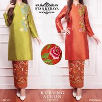 TERMURAH Baju Kurung Melayu Wanita Malaysia Modern AINUN BORDIR OPI