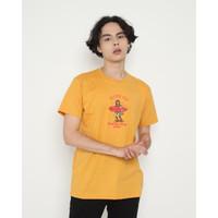 Kaos Pria Erigo T-Shirt Feel The Time Cotton Combed Mustard