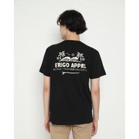 Kaos Pria Erigo T-Shirt Wave And Surf Cotton Combed Black - S