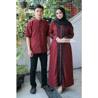 Gamis Syari Baju Couple Pasangan Pria Wanita Busana Dewasa Ibu Muslim