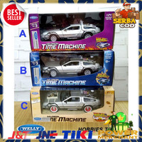 Diecast Welly 1:24 Delorean Time Machine - Back To The Future Murah