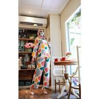 Dijual Asira 2 Polka setelan Rayon celana kulot Berkualitas