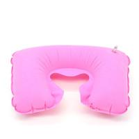 Lovemew Bantal Leher Tiup Portable Bentuk U untuk Travel / Pantai /