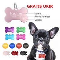 GRATIS UKIR Kalung Anjing Kucing Aluminium / Bandul Liontin Nama