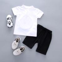 Setelan Kaos T-Shirt Anak Laki-laki Lengan Pendek Gambar Wajah Cina