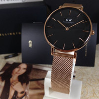 Daniel Wellington Petite Mellrose 32mm black face original