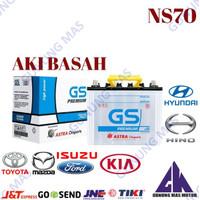 Aki Mobil NS70 Bateray Baterai Accu NS 70 Batery GS Premium Astra too