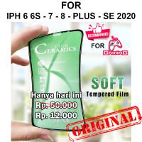 CERAMIC TEMPERED GLASS iPhone 6 6s - 7 - 8 - Plus - SE 2020 anti gores