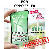 Oppo F7 - F9 anti gores full cover layar gaming CERAMIC TEMPERED GLASS - F7