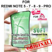 CERAMIC TEMPERED GLASS Xiaomi Redmi Note 5 7 8 9 Pro anti gores gaming