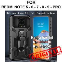 Case Xiaomi Redmi Note 5 - 6 - 7 - 8 - 9 - Pro casing cover BELT ARMOR