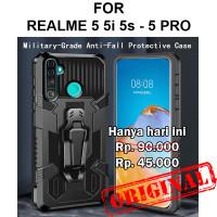 Case Realme 5 5i 5s - 5 Pro softcase casing back cover tpu BELT ARMOR - Realme 5/5i/5s, Black