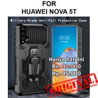 Case Huawei Nova 5T softcase casing back cover tpu silikon BELT ARMOR - Black