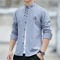 Retro Chinese Man Shirt Casual 100 Cotton Traditional Tops
