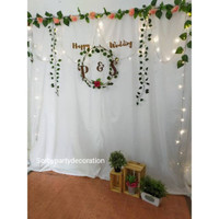 Paket backdrop background photobooth dekoeasi lamaran nikahan aqiqah