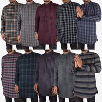 TERBUKTI Baju Fashion Muslim Pria Kurta Lengan Panjang Flanel Premium