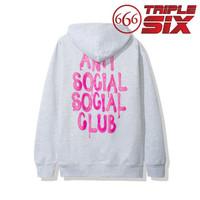 Hoodie Pullover Jumper Pullover Anti Social Social Club LES Grey