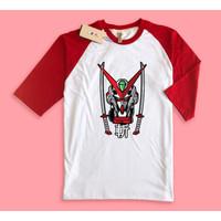Baju Kaos Raglan Gundam Astray Red Frame Samurai