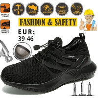 HR819 Sepatu Safety Shoes Ringan Bahan Breathable Ukuran 39-46 Untuk P